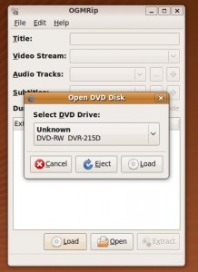 Impostazione della codifica - selezione ed apertura del disco